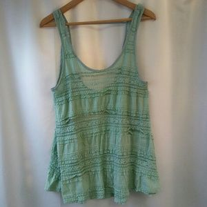 Anthro. Pins & Needles Sleeveless Lace Blouse, S